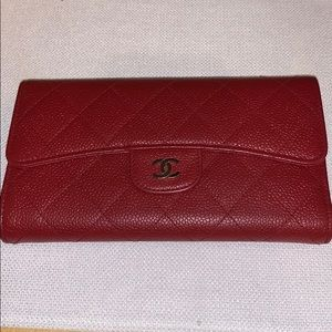 Accessories - Chanel Red Flip Wallet Amazing Condition - Classic